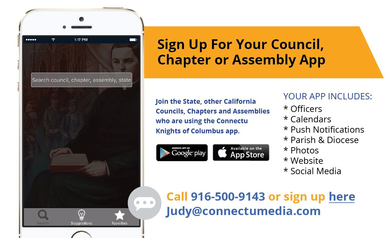Knights of columbus california state council there are over 600 councils in california with over 77000 members the state deputy is the chief executive officer for the state council buycottarizona Choice Image