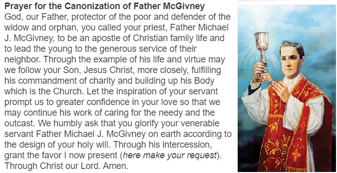 Prayer for Canonization